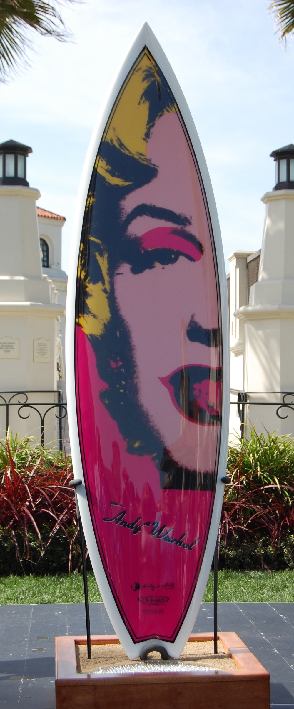 "Tim Bessell/Andy Warhol ""Surfboards on Parade"" board (Photo by Lauren Lloyd)"