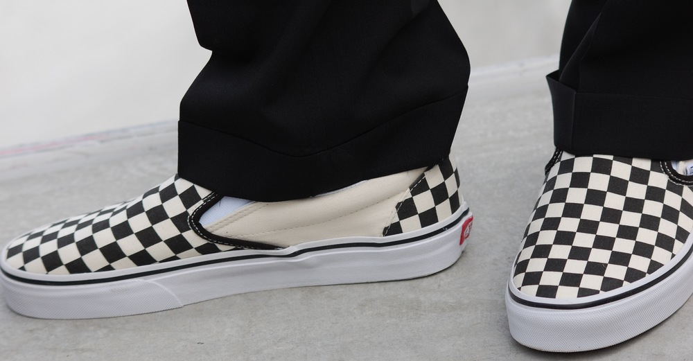 Even Huntington Beach Mayor Matthew Harper rocked his checkerboard Vans at the grand opening  (Photo by Lauren Lloyd)