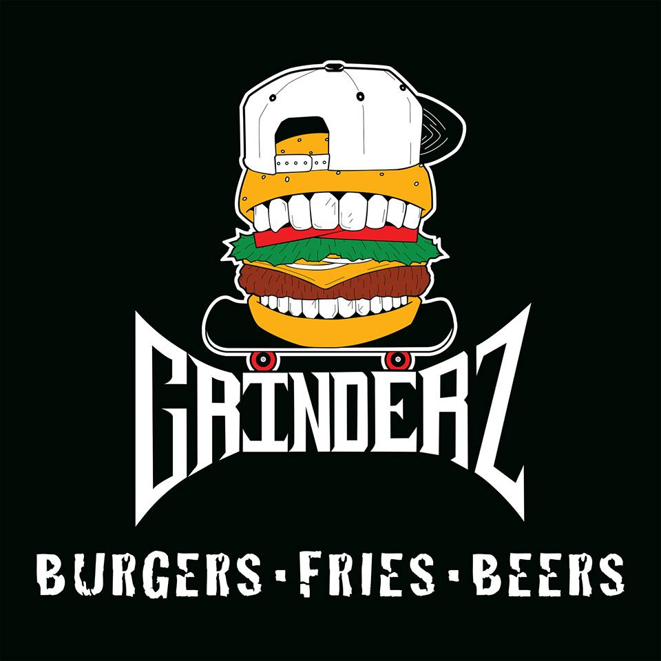 Off The Wall Arts grinderz keeps it local with burgers, fries, beer and art near new