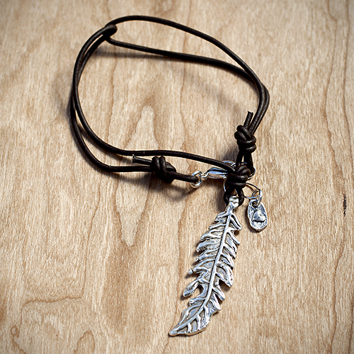 Quiet Mom's soul: Organic Silver Leaf Necklace by Island Cowgirl, $62.  View in our Made In HB Marketplace .