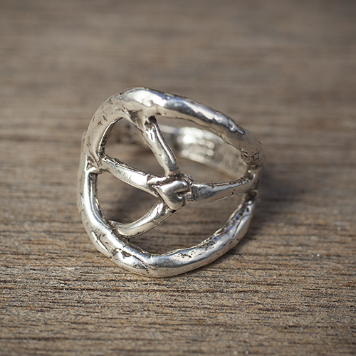 For the peaceful mom: Sterling Silver Peace Sign Ring by Island Cowgirl, $36.  View in our Made In HB Marketplace .