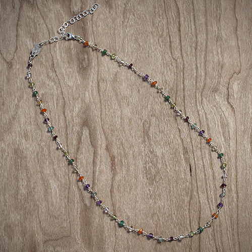 Gift Mom some color: Sterling Silver Gemstone Rosary by Jan Palmer Designs, $50.  View in our Made In HB Marketplace .