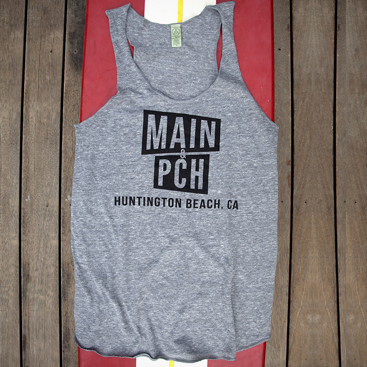 Help Mom represent Huntington Beach: Super-Soft Main & PCH Tank, $25. View in our  Made In HB Marketplace .