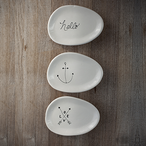 For the modern vintage mom: Versatile Ceramic Plates by Andrea Luna Reece, $20.  View in our Made In HB Marketplace .