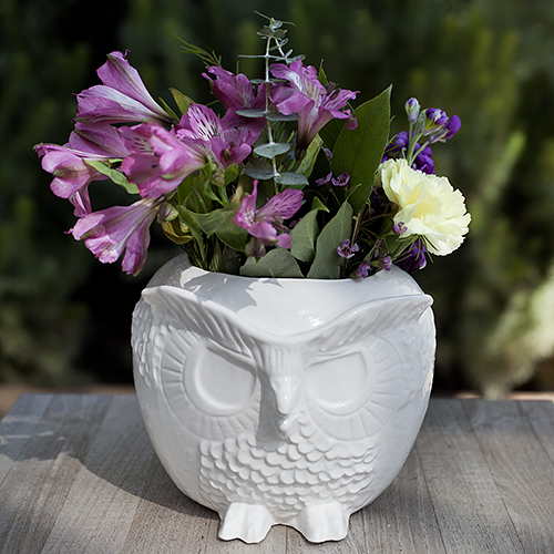 For the modern vintagemom: Versatile Ceramic Owl Vessel by Andrea Luna Reece, $48. View in our Made In HB Marketplace .