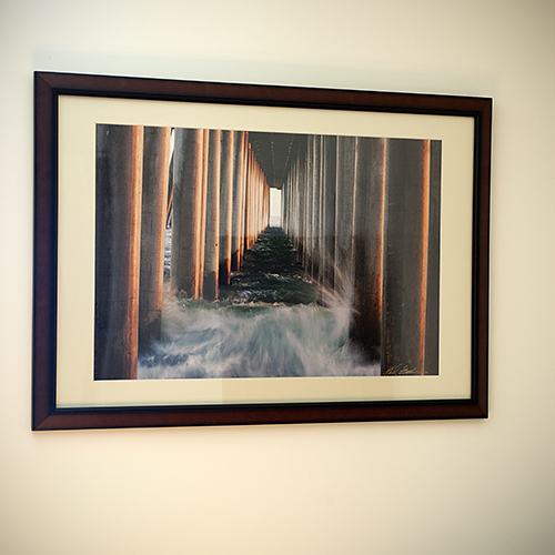 """For the ocean-loving mom: """"Under The Huntington Beach Pier"""" framed print by Michael Latham, $350.  View in our Made In HB Marketplace ."""