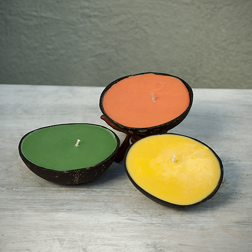 Gift Mom the scents of the islands: Half Coconut Candle by Surf City Temptations, $10. View in our Made In HB Marketplace .