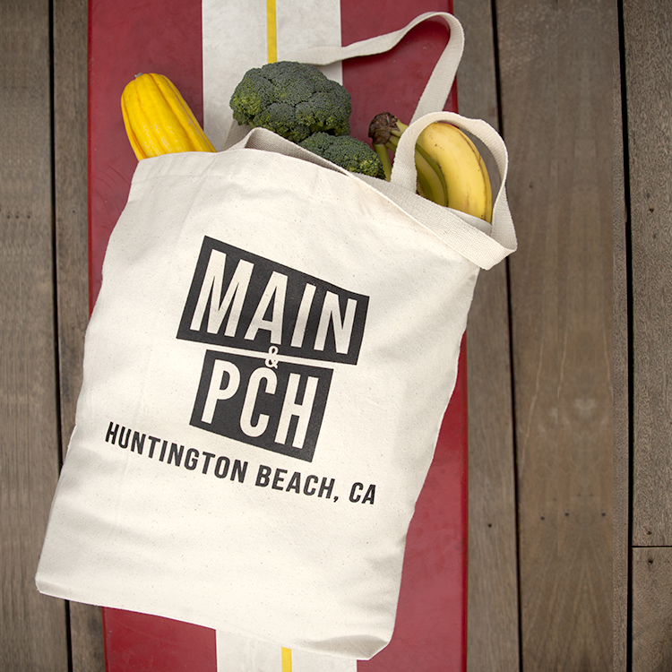 Help Mom go green while representing Huntington Beach: Main & PCH Recycled Cotton Canvas Tote Bag, $10. View in our Made In HB Marketplace .