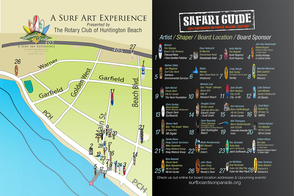 """Surfboards on Parade"" route map (Image by HB Digital; courtesy of Event Fusion)"