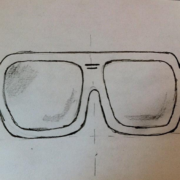 First Elwood sketch  (Photo courtesy of Brushwood)