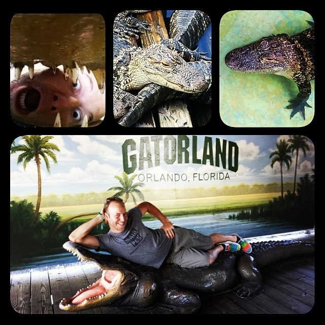 Sam Bernal took us to Gatorland (Photo courtesy of Sam Bernal)