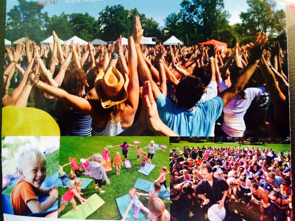 Yoga Rocks The Park  (Collage courtesy of Yoga Rocks The Park)