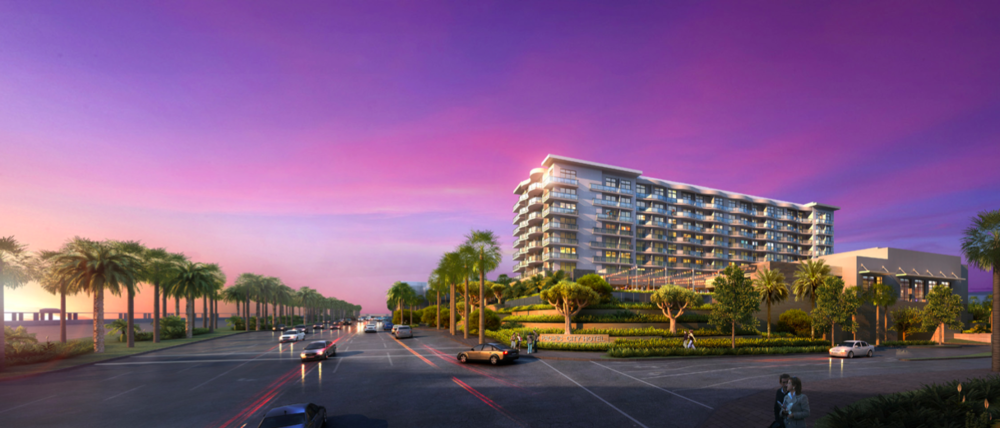 Northbound view of Paséa Hotel & Spa from Pacific Coast Highway  (Rendering courtesy of Resonate PR)