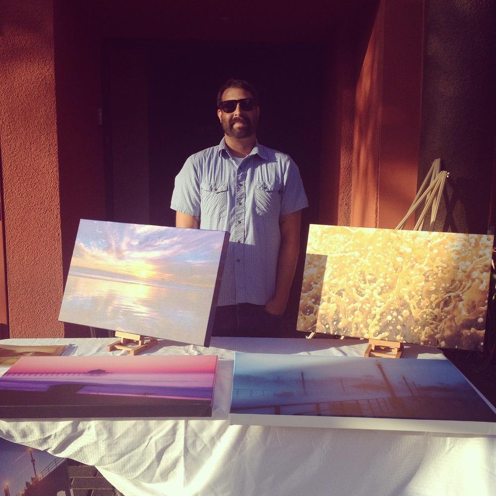 Photographer  Michael Latham  introduces his new canvas prints  (Photo by Lauren Lloyd)