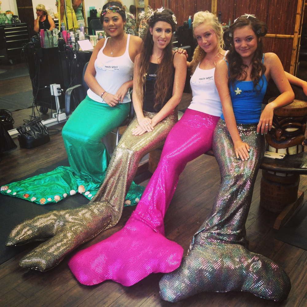 Live mermaids (!!!) at  Makin' Waves Salon   (Photo by Lauren Lloyd)