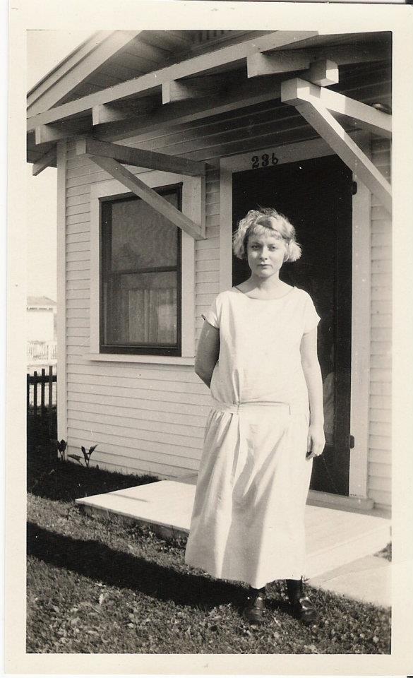 Izetta in Alameda, CA, circa 1928 (Photo courtesy of Grandma Izetta's Kansas Roadhouse Barbecue Sauce)
