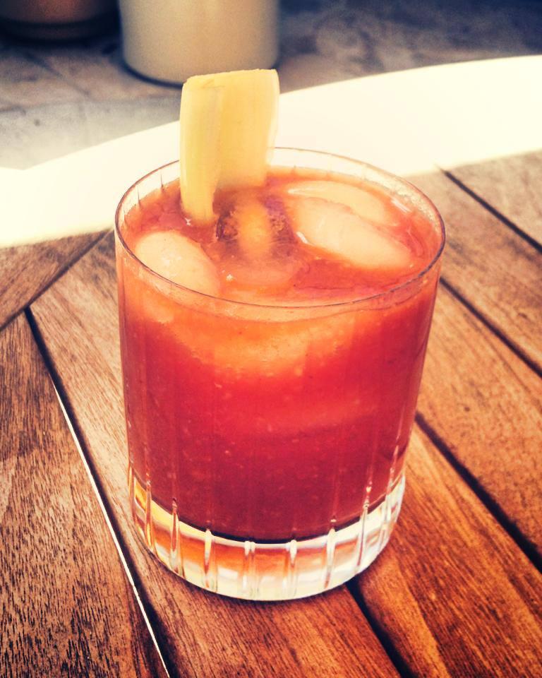 Bloody Mary, Grandma Izetta style (Photo courtesy of Grandma Izetta's Kansas Roadhouse Barbecue Sauce)