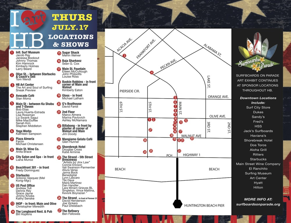 (Art Walk map courtesy of  Enlarge Media Group )