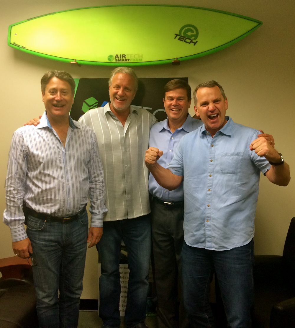 AIRTech Management Team, from left: Timothy Woodward, COO/Director of AIRTech; Blake Ward, Chairman of BeBetterBoards; Robert Doherty, CEO of AIRTech; and Jim Kordenbrock, President of AIRTech (Photo by Amanda Crater)
