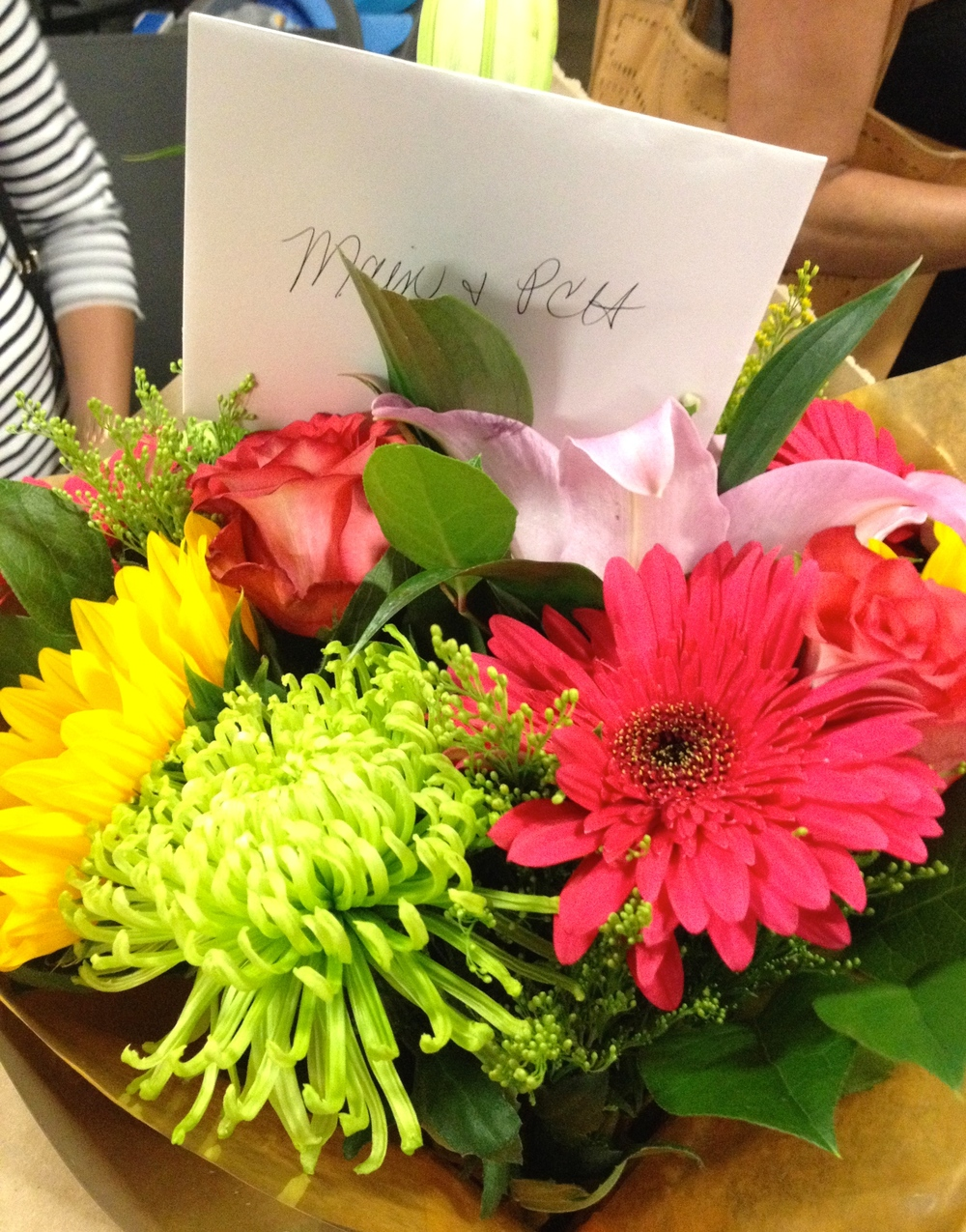 Beautiful anniversary flowers, courtesy of  1 Look Vintage  Owner  Michelle Fechtig   (Photo by Lauren Lloyd)
