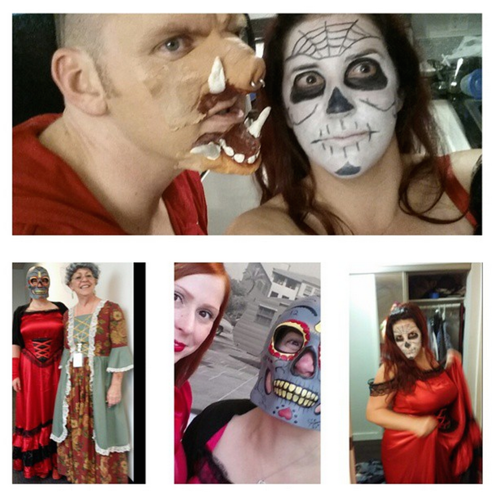 Ghoulish good times with M&P contributor Allie Foley.  (Photo collage by  Allie Foley )