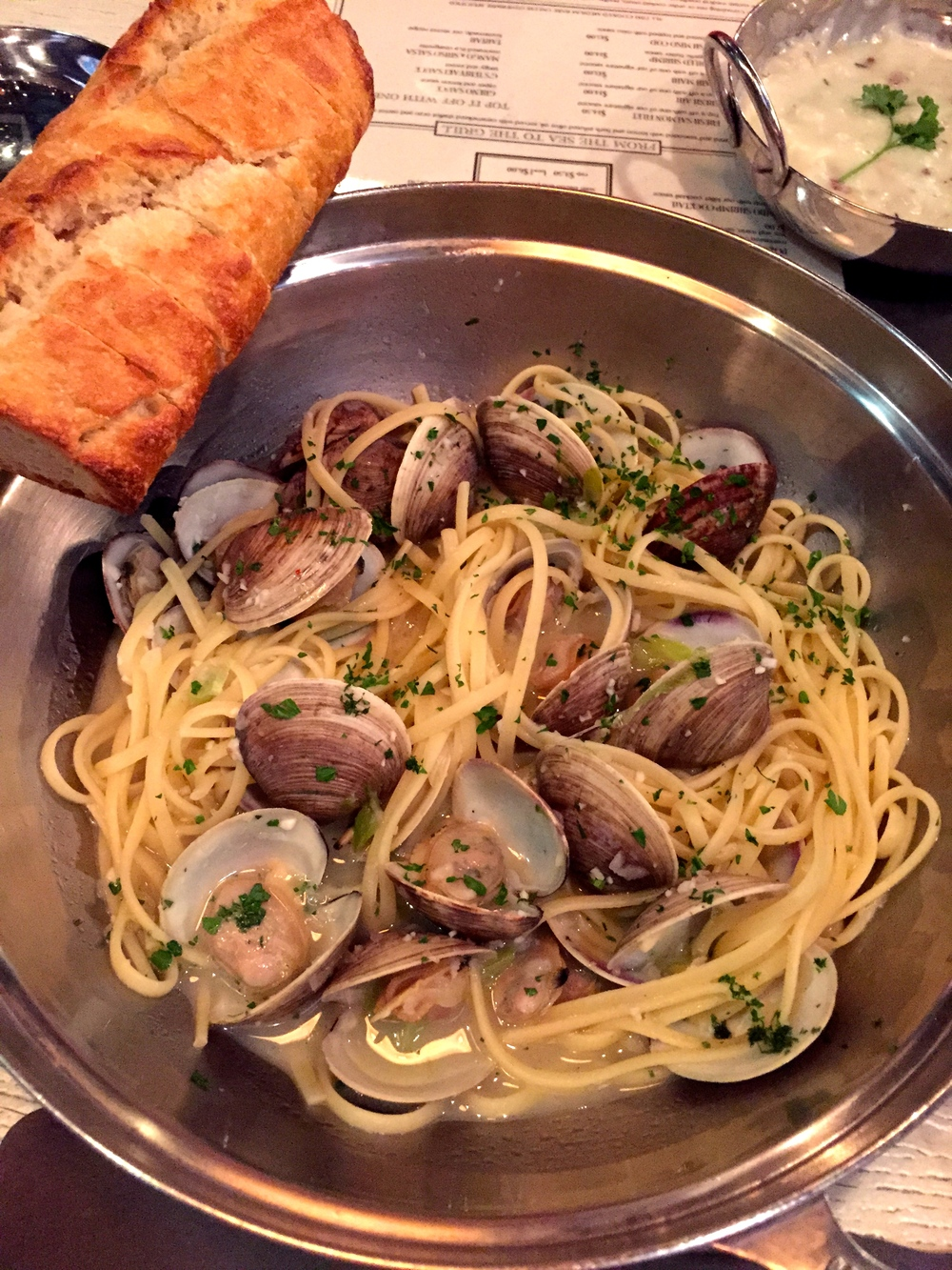 """Linguini & Clams """"From The Pot"""" (Photo by Lauren Lloyd)"""