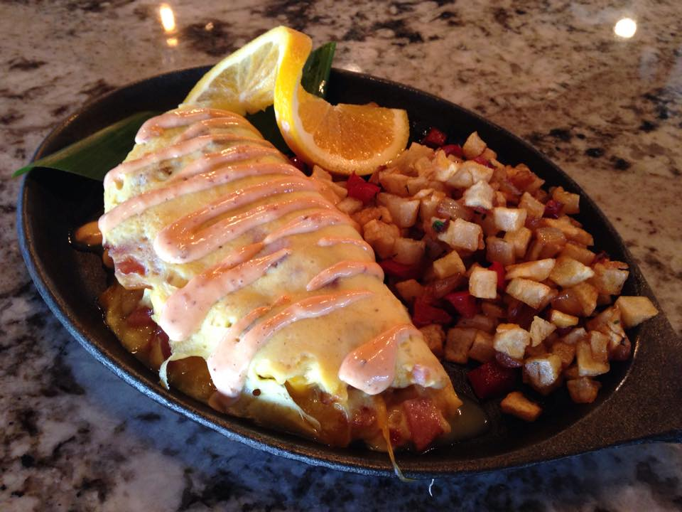 Meatlover Omelette (Photo courtesy of Reefs Edge Grill)