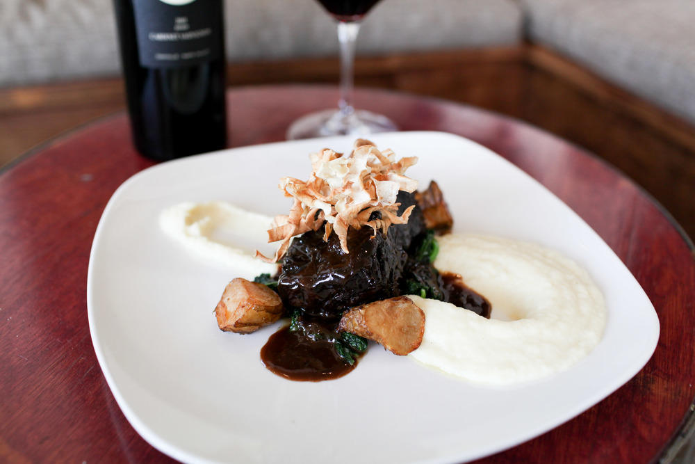 Cabernet Braised Short Rib  (Photo courtesy of SeaLegs Wine Bar)