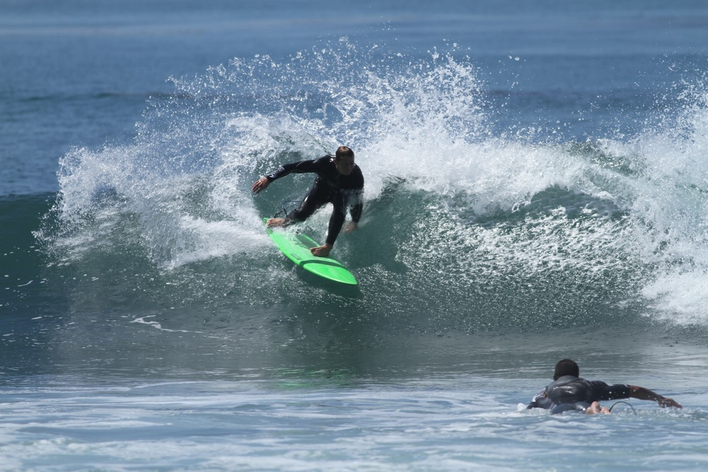 Carrozza Surfboards/Ding Dudes Co-Founder Chris Carrozza surfing Lower Trestles  (Photo courtesy of Carrozza)