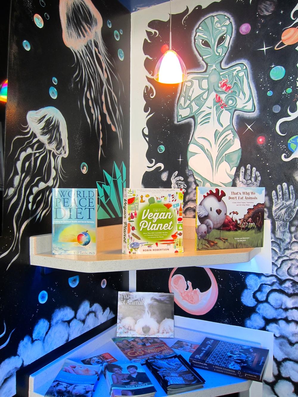 Vegan Nirvana reading corner(Photo by Lauren Lloyd)