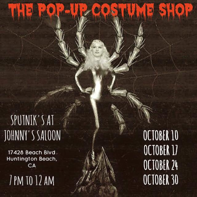 Sputnik's Pop-Up Costume Shop (Flyer courtesy of shop)