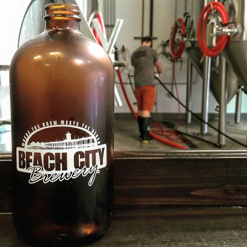Grrrrrrrowler time. (Photo courtesy of Beach City Brewery)