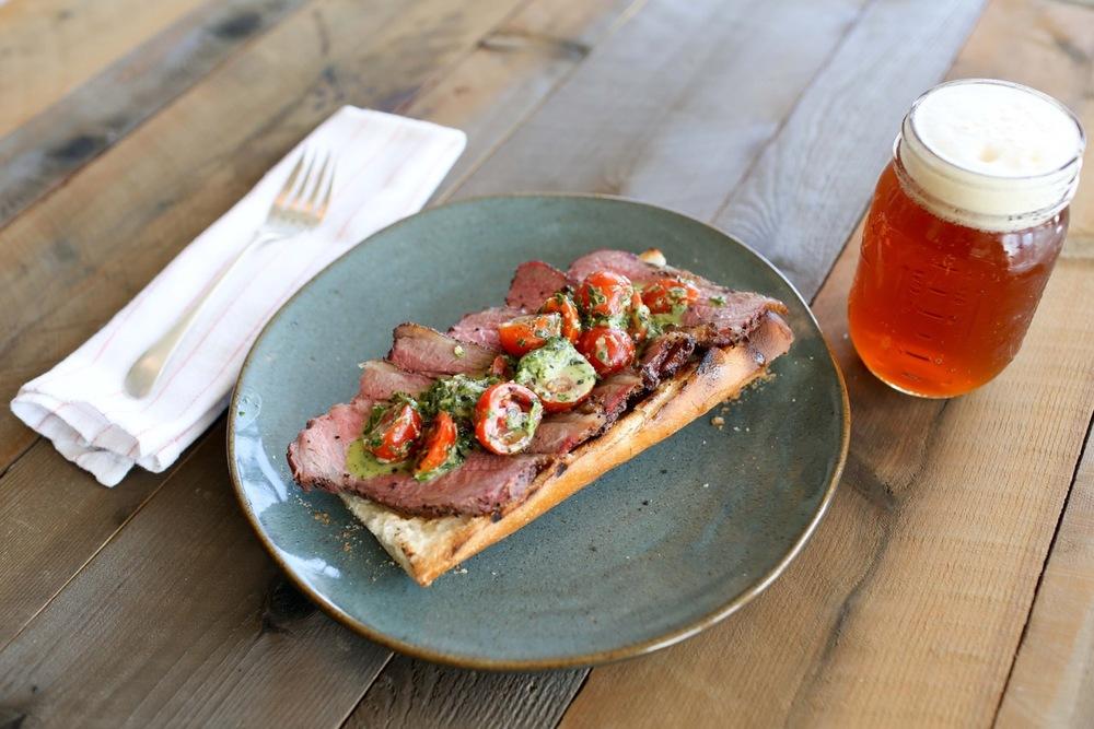 Traditional Santa Maria Smoked Tri-Tip Sandwich  (Courtesy of Prjkt Restaurant Group)