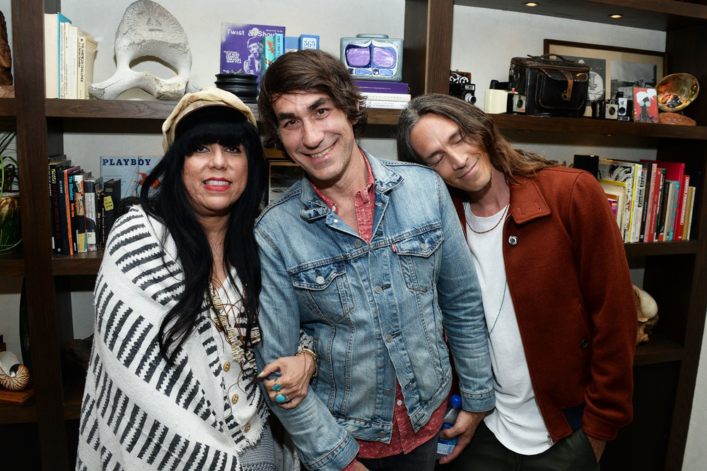 Bungalow Huntington Beach co-owners Jen Rosero and Brent Bolthouse, and Brandon Boyd of Incubus (Matt Winkelmeyer/Getty Images for Bolthouse Productions)
