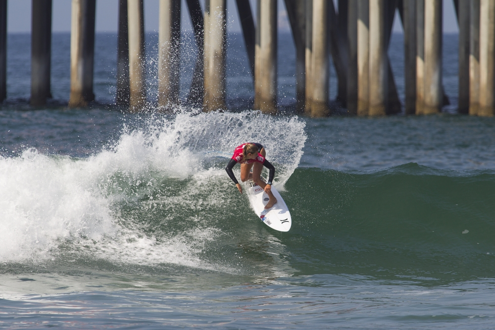 Lakey Peterson at the Vans US Open of Surfing  (© WSL / Morris)