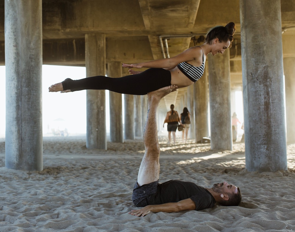 Amanda and Scotty, HB Yoga Collective Teachers // Photo by Carrie Cowen Photography