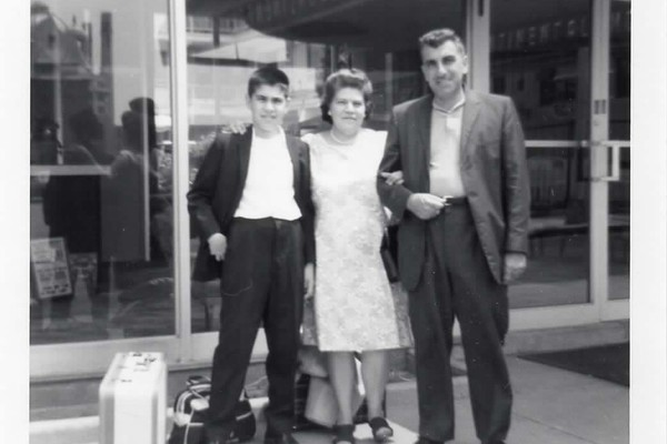 My dad, as a kid, and my grandparents.