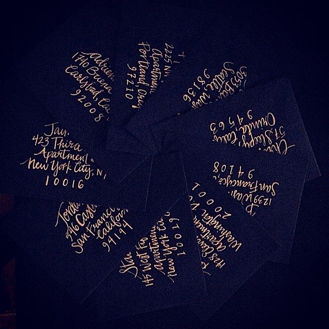 Taylor's invitations