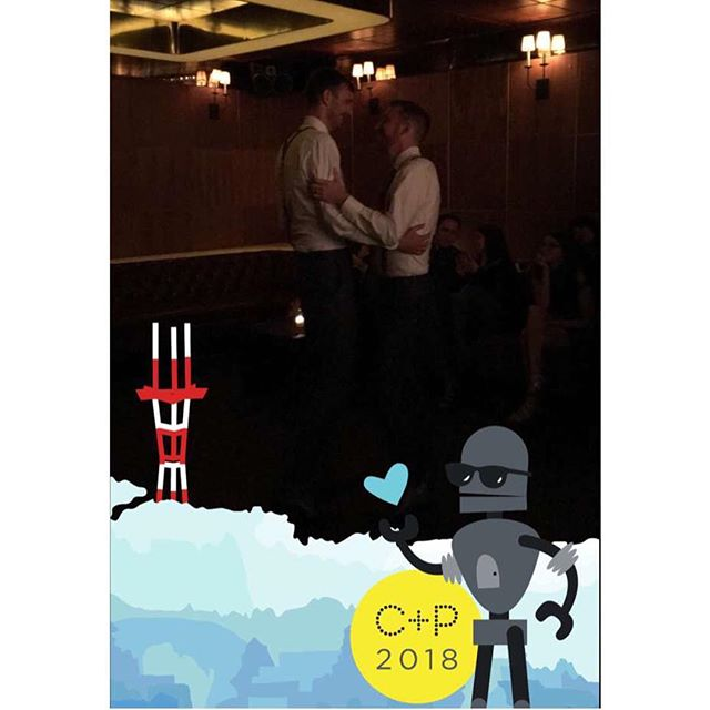 But this custom Snapchat filter. Perfect cherry on top of the happiest wedding. — #human1human2 #customsnapchatfilter #snapchat #weddingfilter #weddingrobot #robotwedding #sanfrancisco #sutrotower #sfwedding #chamberssf #mybestfriendswedding #cameronandpaul #firstdance #socute #lovewins #🤖 #👯‍♂️ #👨‍❤️‍💋‍👨 #illustration #illustrator #graphicdesign #graphicdesigner #artistsoninstagram #jfrankdesigns