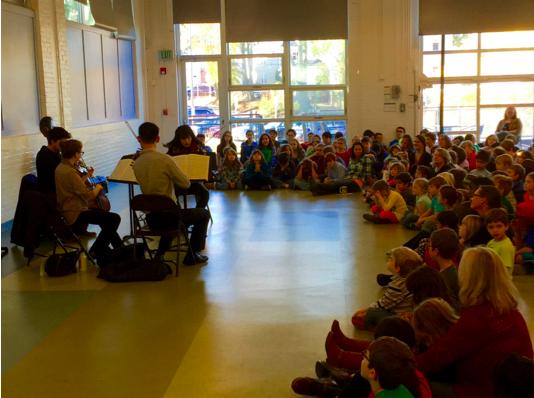 The Omer Quartet performing at Atrium in October, 2015