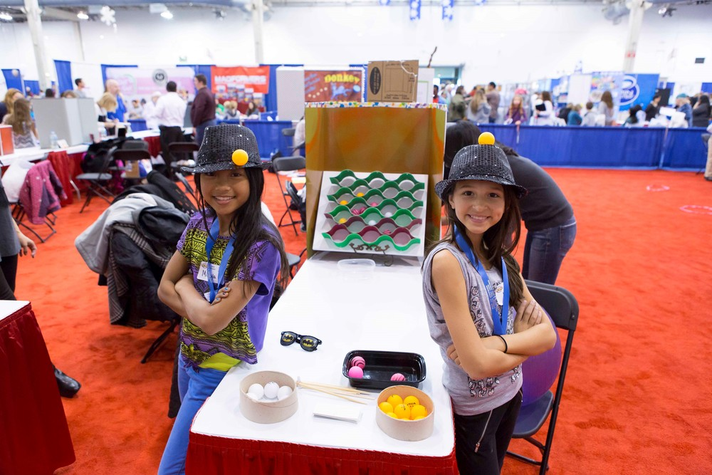 2014 Junior Category Winners Mikayla and Kate with their game, KaBounce