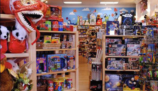 Interior of Five Little Monkeys, Stephanie's Store.