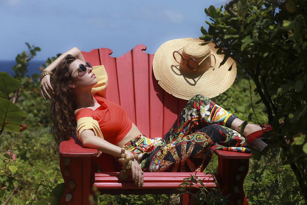 Freya in Dolce & Gabbana, Asos, New York Vintage, Marni and Raen