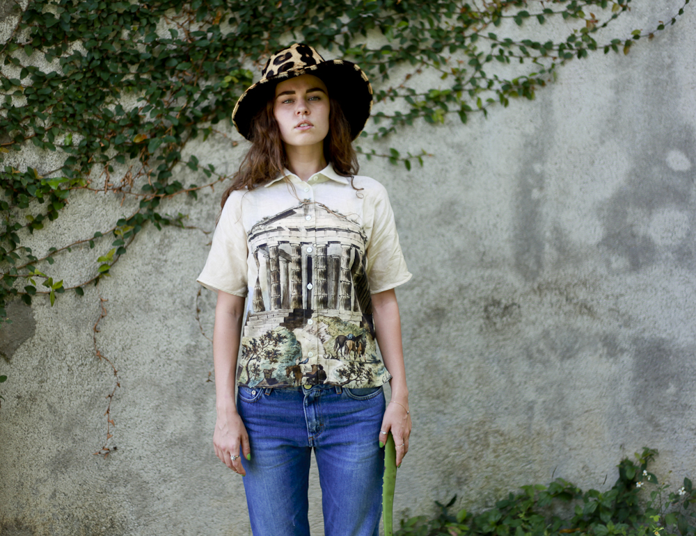 Freya in Dolce & Gabbana, Acne, Catbird and vintage