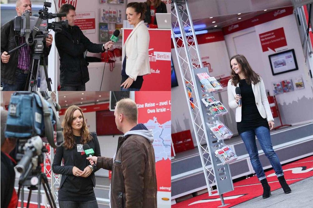 Interview polnisches Fernsehen TVP in Stettin und Gorzow