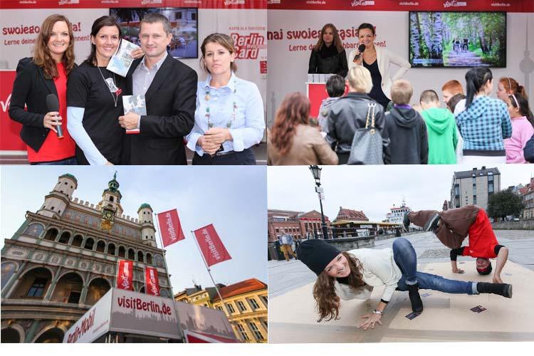 """Repräsentanten der Oder-Partnerschaft in Wroclaw,Quiz """"Lerne Deinen Nachbarn kennen"""" und Breakdance spontan mit Moderatorin Iza Höll"""