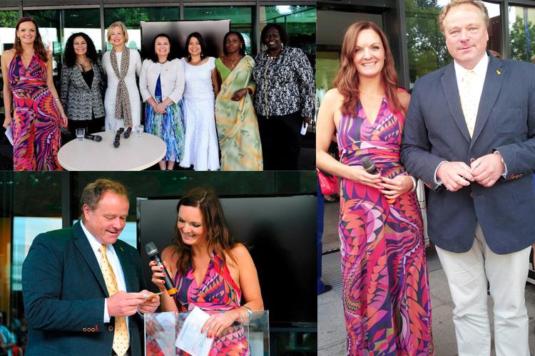 Botschafterinnen der Länder Bolivien, El Salvador, Nicaragua, Ruanda und Süd Sudan,Bundesentwicklungsminister Dirk Niebel und Moderatorin Iza Höll