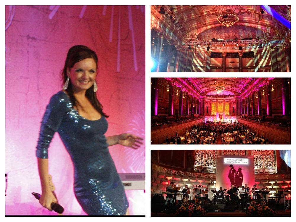 Die Sängerin Iza Höll beim Juristenball in Wiesbaden
