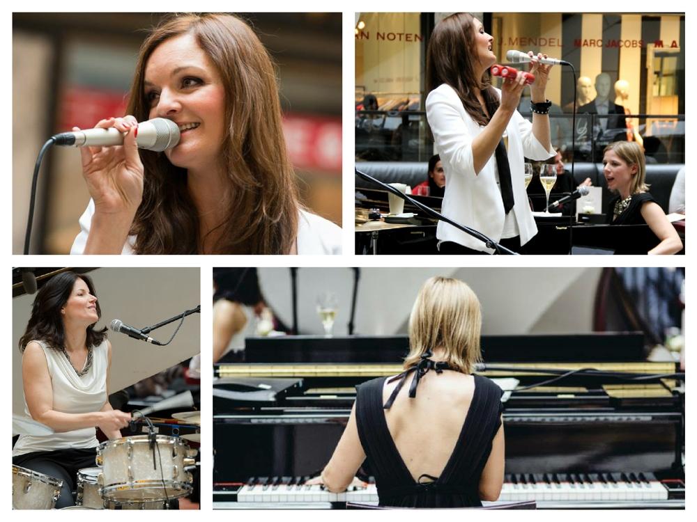 Die Jazz-Band Fourluxe beim Art & Fashion Event im Quartier 206