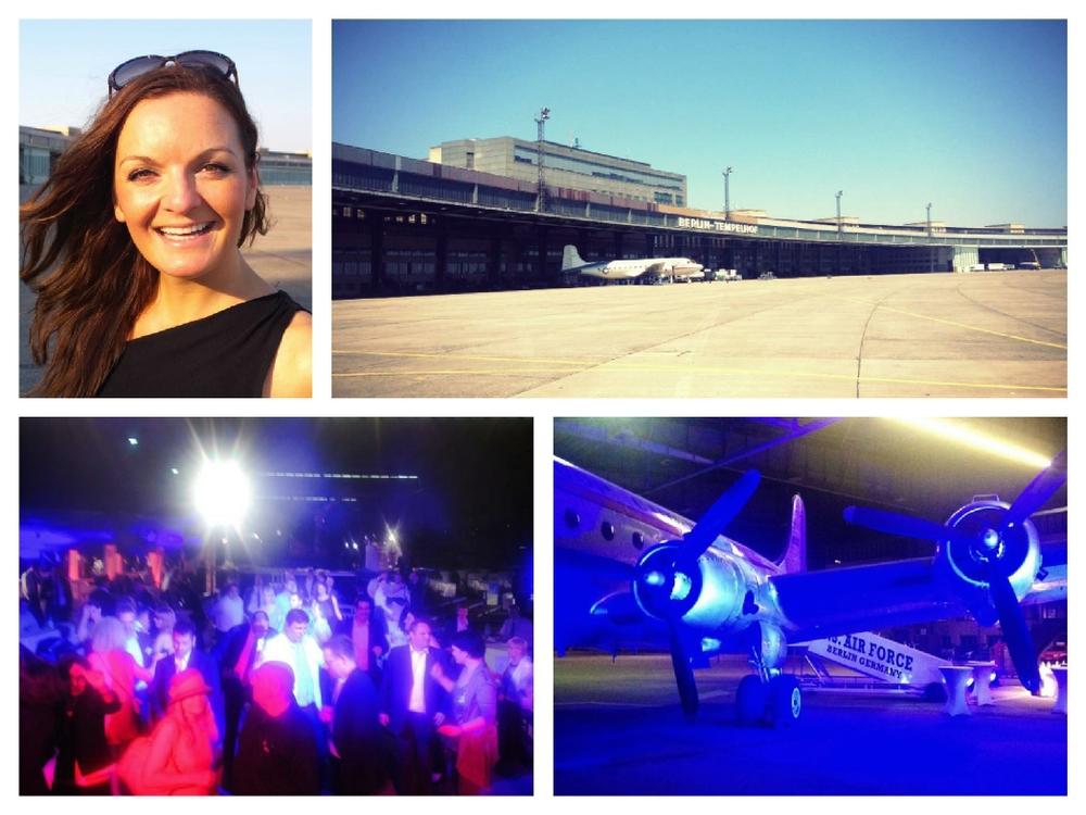 Iza Höll mit JJFetzerAndFriends beim Event am Flughafen Tempelhof